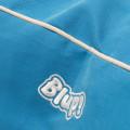 Paszpólcsík a babzsákfotel huzaton és a hímzett embléma