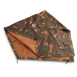 Beanbag cover made of used armytent