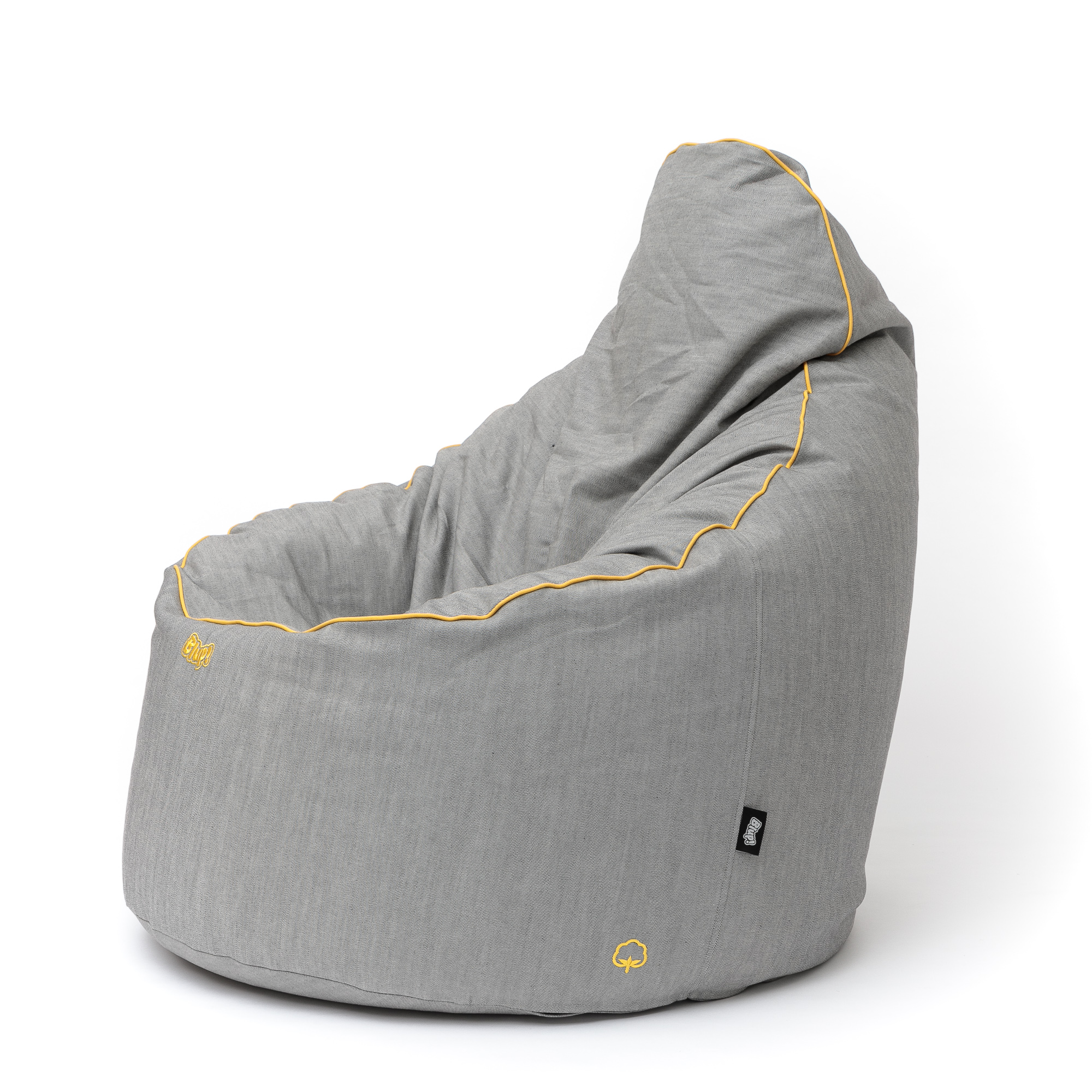 Idea babzsákfotel / PAMUT galamb PAS sárga