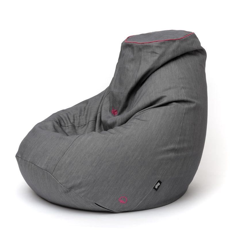 Relax babzsákfotel / PAMUT mák PAS pink