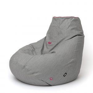 Relax babzsákfotel / PAMUT galamb PAS pink